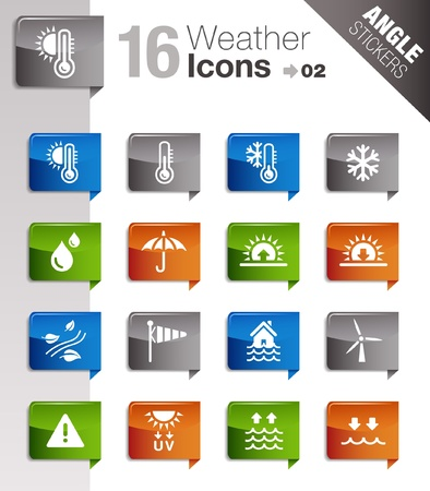 Angle Stickers - Weather Icons Vector