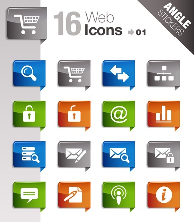 next icon: Angle Stickers - Website and Internet Icons Illustration