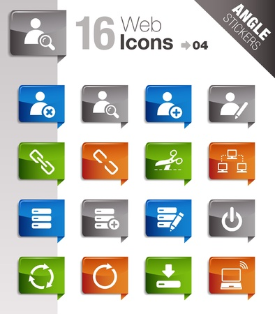 less: Angle Stickers - Website and Internet Icons Illustration
