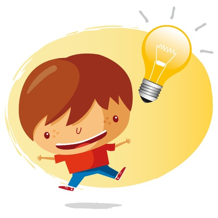 light bulb idea: big idea Illustration