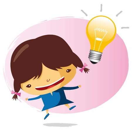uitvinder: grote idee Stock Illustratie