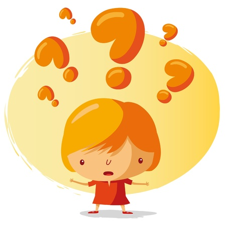 questioning: gro�e Frage Illustration