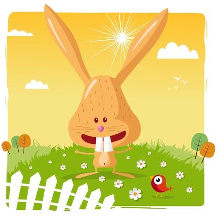 Funny rabbit Vector