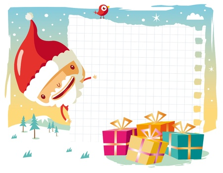 Christmas - Santa Claus and his gift list Vector