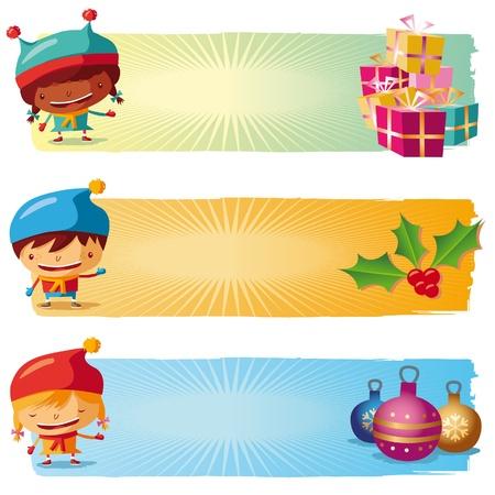 child jesus: Christmas banners Illustration