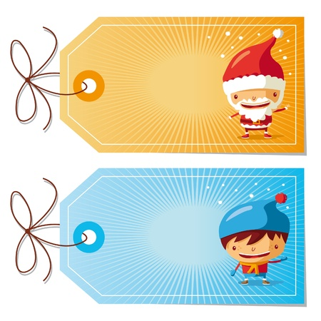 free gift: christmas gift tags Illustration
