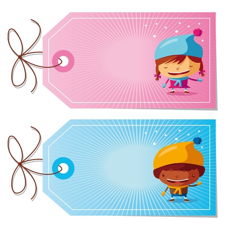 label tag: Christmas gift tags Illustration