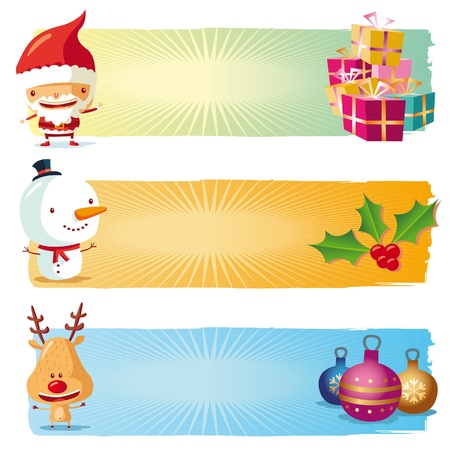 free christmas: Christmas banners Illustration