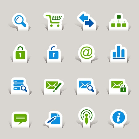 close icon: Paper Cut - Website and Internet Icons