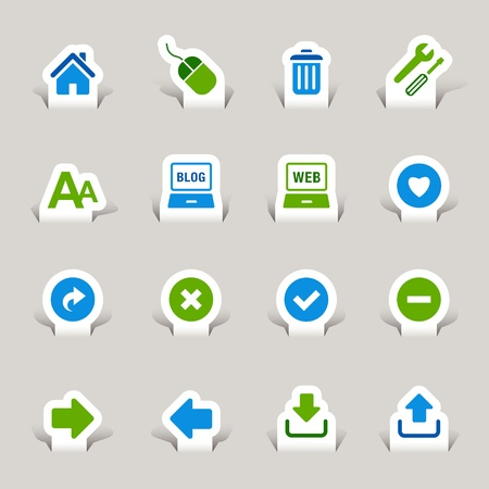 sign ok: Paper Cut - Website and Internet Icons