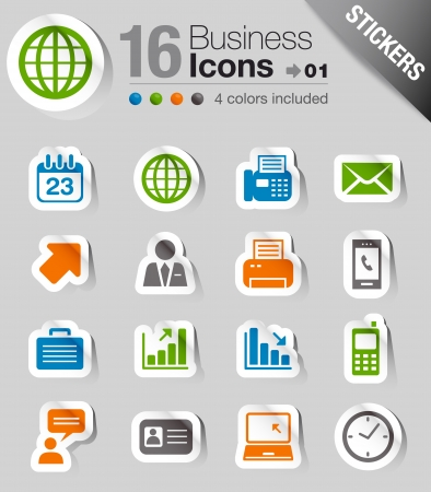 web mail: Glossy Stickers - Office and Business icons