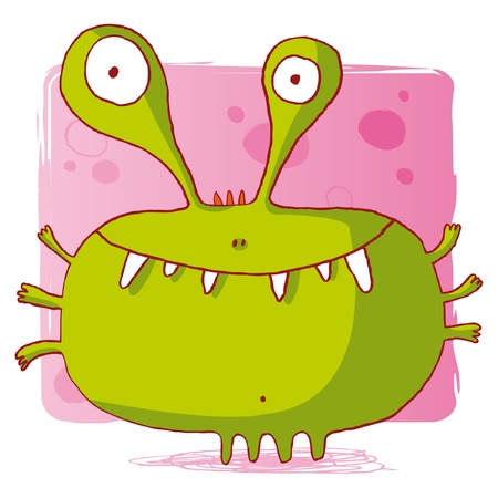 funny bacteria  funny monster  funny computer virus Vector
