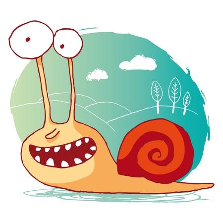 snails: funny snail Illustration