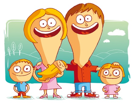 funny picture: happy family