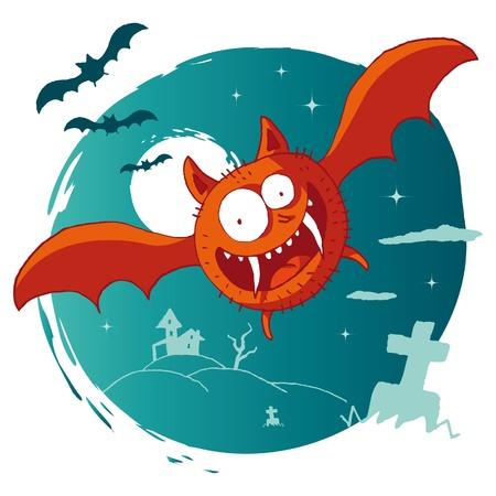 at bat: Halloween - Bat Vectores