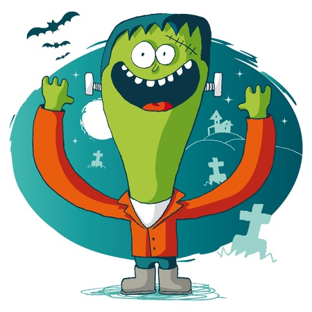 Halloween -  frankenstein Vector