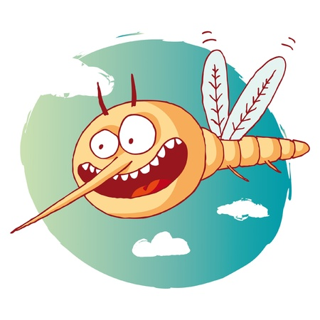 funny mosquito Stock Vector - 10470520