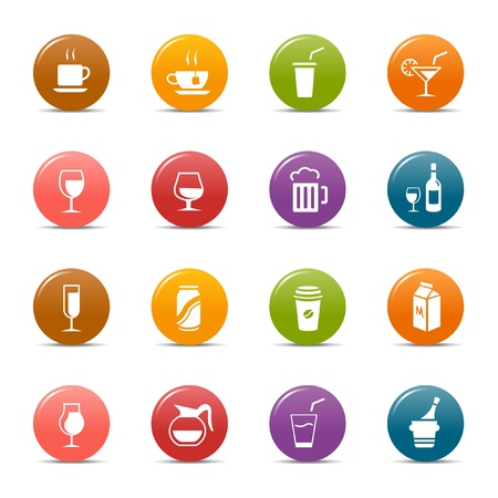 Colored dots - Drink Icons Stock Vector - 10505669