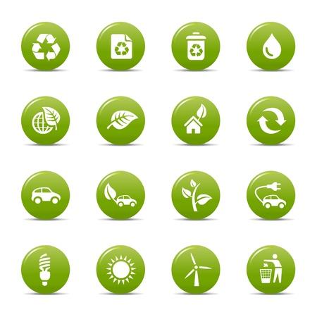 Bunte Punkte - ökologische Icons