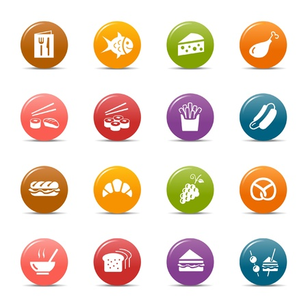 Colored dots - Food Icons Stock Vector - 10505683