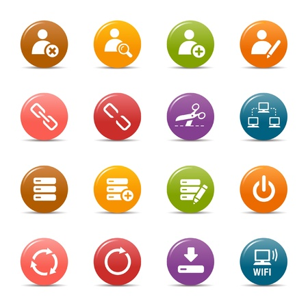 Colored dots - Website and Internet Icons Stock Vector - 10505670