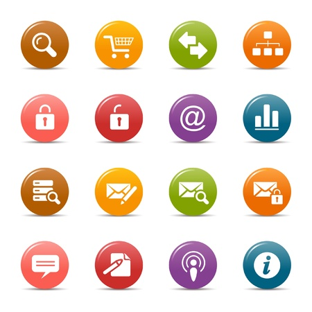 Colored dots - Website and Internet Icons Stock Vector - 10505667
