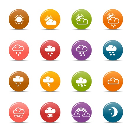 Colored dots - Weather Icons Stock Vector - 10505688