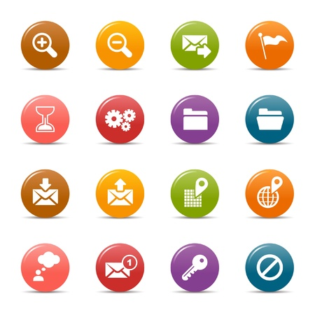 Colored dots - Website and Internet Icons Stock Vector - 10505672