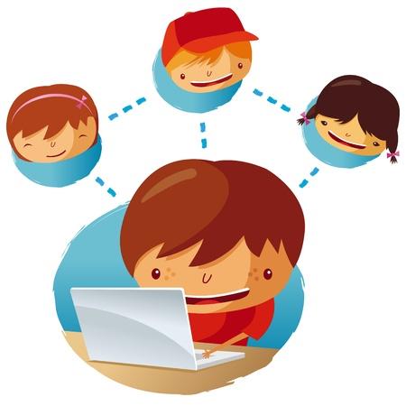 lien: réseau humain Illustration