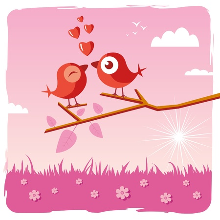 funny love: happy Valentine Illustration