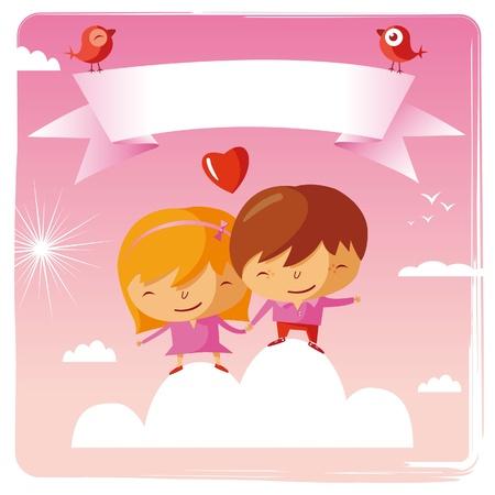 st valentines day: happy Valentine Illustration
