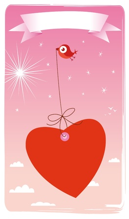 love card: happy Valentine Illustration