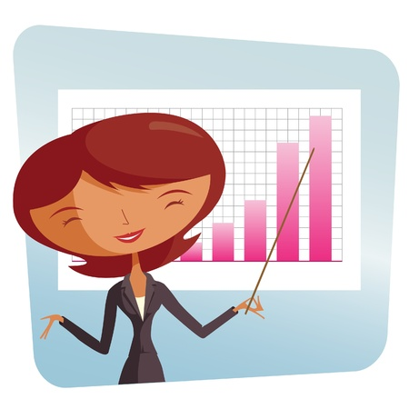elegant woman at work - performance Stock Vector - 10515809