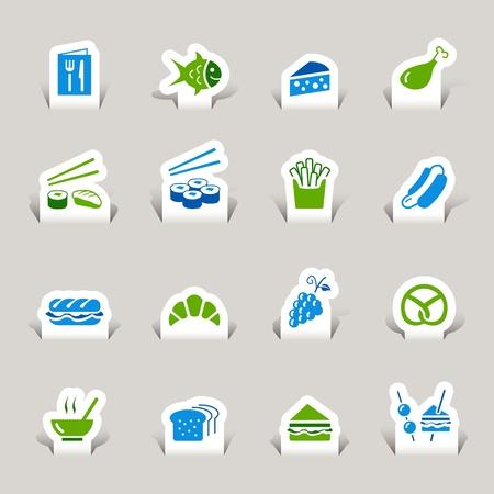 sandwich de pollo: Paper Cut - Iconos de alimentos