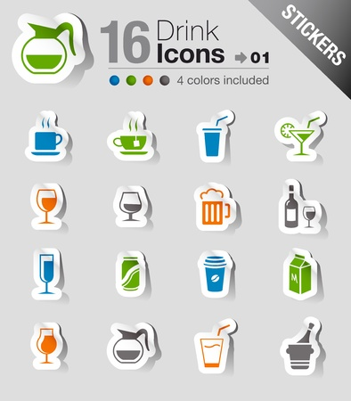Stickers - Drink Icons Vector
