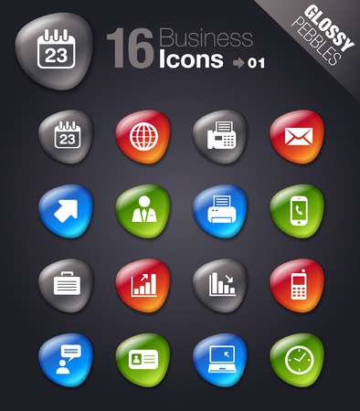 calendar icons: Glossy Pebbles - Office and Business icons