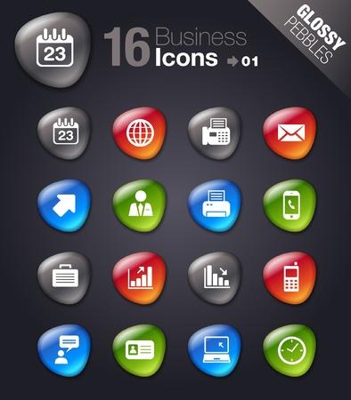man on cell phone: Piedras brillantes - iconos de Office y de negocios Vectores