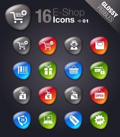 e commerce icon: Piedras brillantes - Los iconos de Compras Vectores