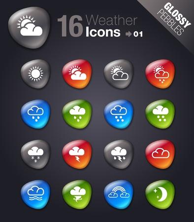 iconos del clima: Piedras brillantes iconos del tiempo -