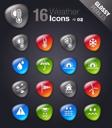 weather icons: Glossy Pebbles - Weather Icons