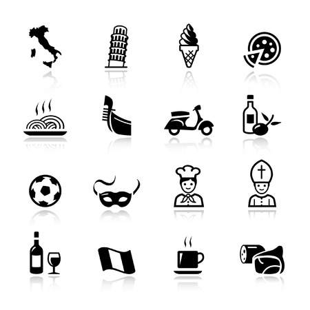 Basic - Italien icônes Banque d'images - 11476000