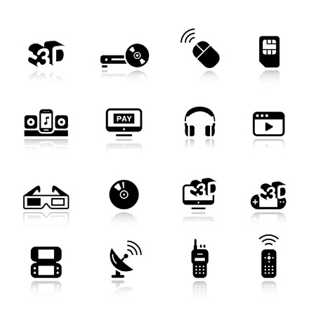 Basic - Media Icons Stock Vector - 11476001