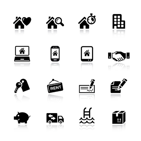 Basic - Real estate icons Векторная Иллюстрация