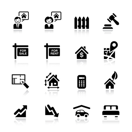 Basic - Real estate icons Vector