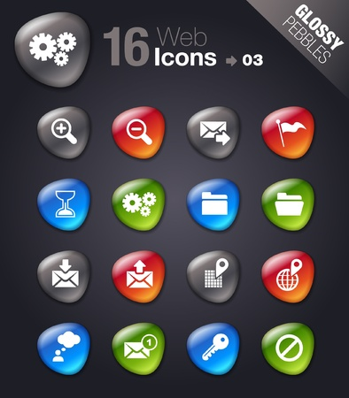 button glossy: Glossy Pebbles - Website and Internet Icons