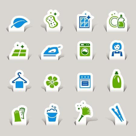 laundry hanger: Paper Cut - Iconos de limpieza