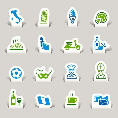 fiambres: Paper Cut - Iconos italianos