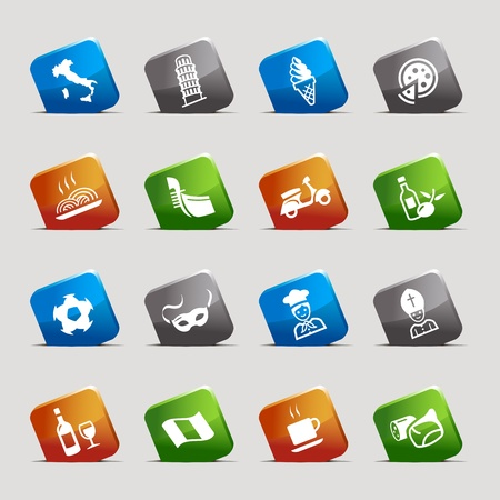 Cut Squares - Italian Icons Vector