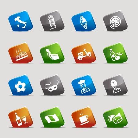 Cut Squares - Italian Icons Stock Vector - 12488237