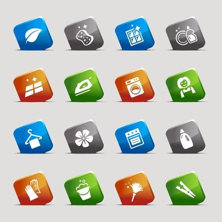 Cut Squares - Ecological Icons Stock Vector - 12488233